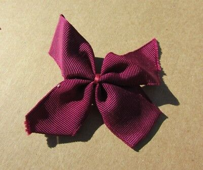 Doll Clothing Hair Bow Wide Grosgrain Wine Ginny Muffie Ginger 1950s Vintage
