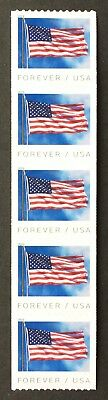 New US Flag (BCA) - Strip of 5 Stamps - Forever - MNH - 2019 - Free Shipping