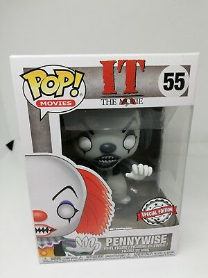 Funko POP ! Movie IT Pennywise - 55 - Horror -Black and White - Limited edition