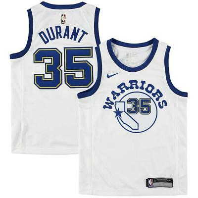 hot sale online 3ebbb 5d264 NEW $70 NIKE Warriors Kevin Durant Youth Jersey Hardwood Classics White Sz  Large