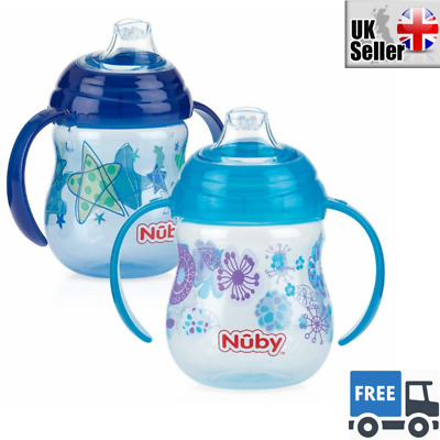 Pack of 2 No Spill Sippy Cups Toddler First Trainer Beaker Cup Drinker Child