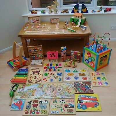 Very large wooden toy bundle Montessori educational toddler baby bargain