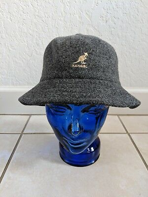 98c2e5ad VINTAGE KANGOL Wool true Black Newsboy Newsy Cabbie Mens Hat #2 ...