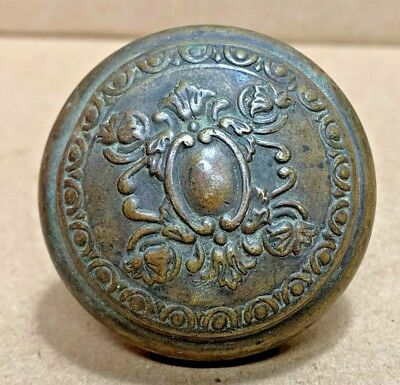 Antique Vintage Victorian Brass Embossed Door Knob