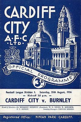 Aug 56 Cardiff City v Burnley