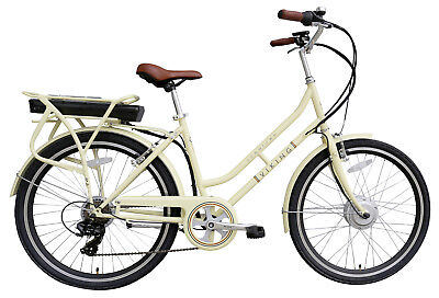 Viking Downtown 36 Electric Bike 6 Speed 250w 3 Mode Assist Ivory RRP £1189.99
