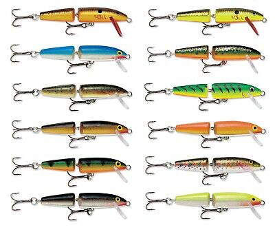 Rapala Jointed Balsa Wood Minnow Crankbait Bass Fishing Lure Jerkbait