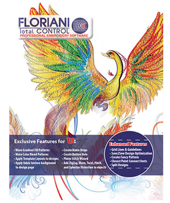 Floriani Total Control Professional 7.25 Embroidery Program Full Version