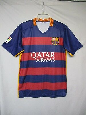 8dbd64482ca FC BARCELONA FCB Futbol Soccer Jersey Qatar Airways Men s Size Small ...