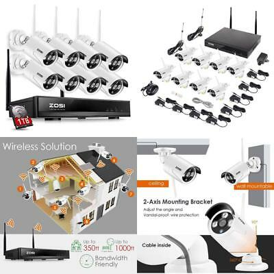 f84ed59c8 ZOSI 1080P IP 1TB CCTV Wireless Security Camera System HD Network ...