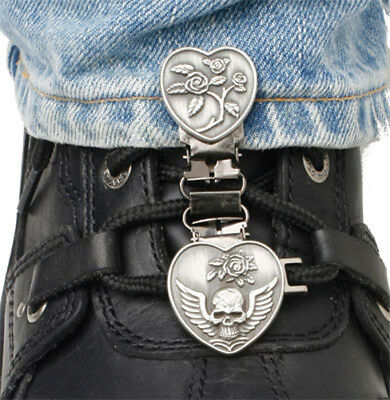 Ryder Clips HSL-FC Laced Boots Two Clip Version Heart/Skull