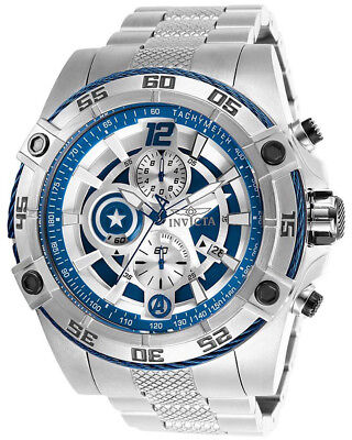 Invicta 26793 Marvel Blue Dial Stainless Steel Chronograph Men's Watch