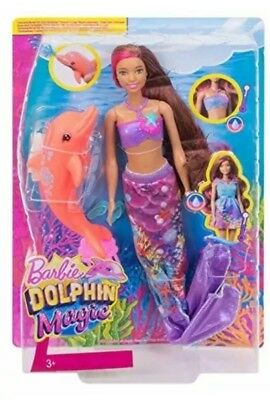 Barbie FBD64 Dolphin Magic Transforming Mermaid Doll