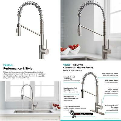 Kraus KPF-2631SFS Oletto Kitchen Faucet, 21.75 inch, Spot Free Stainless Steel