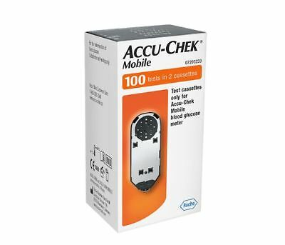 Accu Chek Mobile Test Strips 100 **New in Box Long Expiry**
