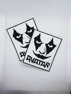 Avatar logo and eyes embroidered sew on metal patch