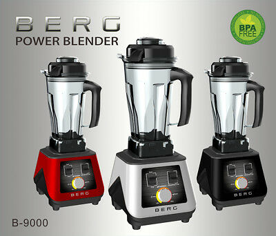 Berg 1500W 2Hp Commercial Food Blender Smoothie Maker Ice Crush Rrp £299