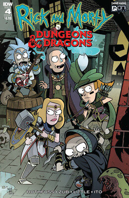 RICK AND MORTY VS DUNGEONS AND DRAGONS (2018) #4 A cover - New Bagged