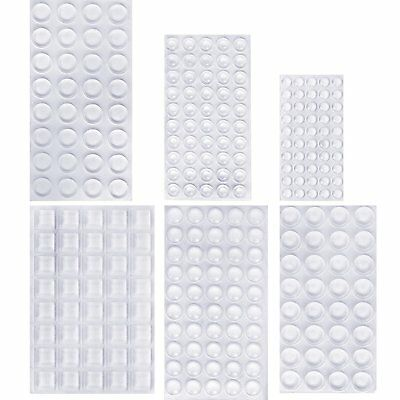 Pieces Clear Rubber Feet Bumper Pads Adhesive Transparent Buffer Pads Cabinet D