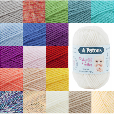 Patons Fairytale Dreamtime 100% Wool 4 Ply Knit Yarn Craft Wool 25g Ball