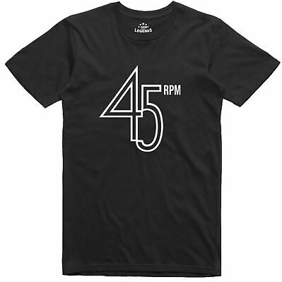 45 rpm Vinyl Record Logo Music Northern Soul Regular Fit Cotton T Shirt