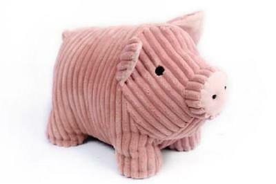 Large Heavy Cute Pink Pig Ribbed Fabric Door Stop Home Office Animal Cuddly Toy