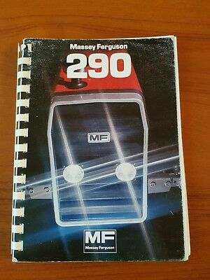 Massey Ferguson 290 Instruction Manual May 1983 - Text in French