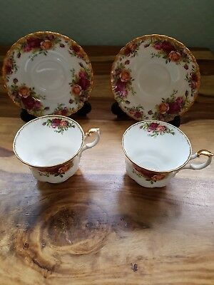 2 x Royal Albert Old Country Roses Tea Cup And Saucer