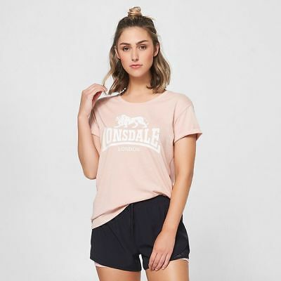 NEW Lonsdale London Logo Tee - Pink