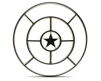"Motorbike Headlight Cover 7"" INCH Guard Scrambler Project Retro - Star Design"