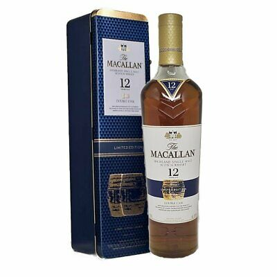 New Macallan 12 Yr Old Double Cask Limited Edition - Metal Gift Boxed