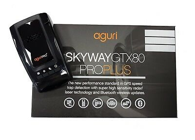 Aguri Skyway Pro Plus GTX80 GPS Radar Laser detector with free wireless updates