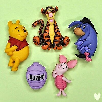 DISNEY Winnie The Pooh 7729 Dress It Up Buttons - Tigger Piglet Eeyore