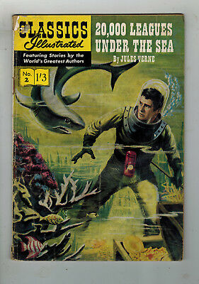 CLASSICS ILLUSTRATED COMIC No. 2 20,000 Leagues Under the Sea 1/3 HRN 129
