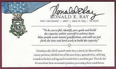 Ronald E. Ray, MOH Recipient, Signed moh Society Card, COA, UACC RD 036