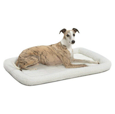 MidWest QuietTime Deluxe Fleece Bolster Pet Bed for Dogs & Cats 36-inch Bed
