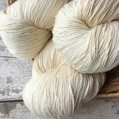Undyed Yarn - Organic Cotton GOTS certified - 1kg DK Light Worsted Yarn to Dye -