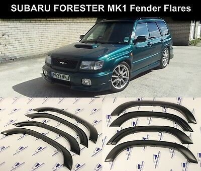 Subaru Forester Fender Flares Wheel Arch Protector JDM Extension Trim 6pcs Black