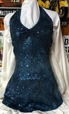 Stunning Sparkly Mondor Ice Skating Competition Dress Adult Medium