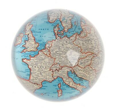 New Sass & Belle Vintage Map Paperweight Dome Half Globe Atlas Desk Travel Gift