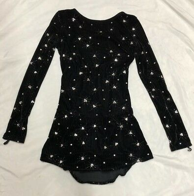 Ice Skating Figure Skating Competition Dress Crystals UK 8/10 Adult