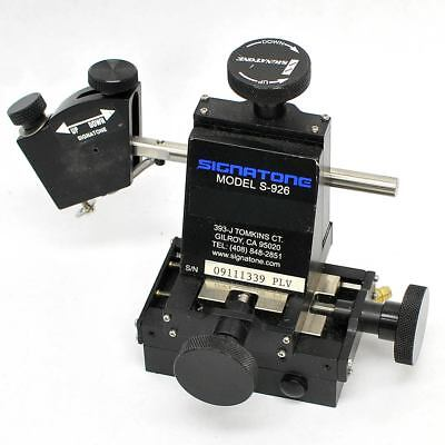 Signatone Micromanipulator Model S-926 XYZ Micropositioning Stage 5 Axis Right