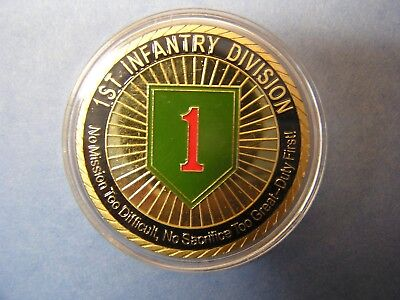 """*One New 1st Infantry Division """"Big Red One"""" Commemorative Coin"""