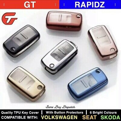 Luxury Tough TPU Car Key Cover Case - VW, Skoda + Seat - MK4, MK5, MK6 etc