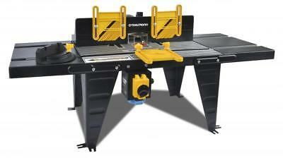 ToolTronix 1800W Bench Mounted Electric Router Table Aluminium 460mm x 335mm NVR