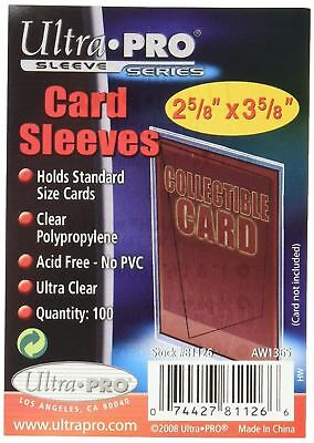 Ultra Pro Ultra Clear Soft Card Sleeves 2-5/8-Inches X 3-5/8-Inches