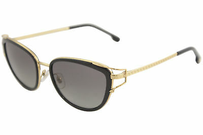 d83955b3df Versace Women s VE2203 VE 2203 1438 11 Black Gold Cat Eye Sunglasses 53mm