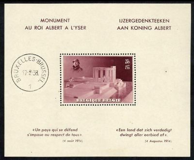Belgium Scott #B 208 VF MNH 1938 King Albert Memorial Souvenir Sheet CV $62.50