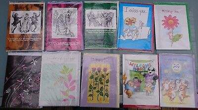 Mixed greetings cards - Job Lot of 50  (All individually wrapped)