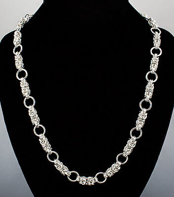 Byzantine Dreams Necklace Handmade Chain Maille Sterling 25 Inch Chainmail iDu